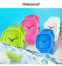 Waterproof Women Men's LED Digital Sports Silicone Sport Quartz Wrist Watches