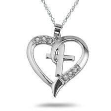 Family Friend Love Heart Quote Chic Pretty Silver Pendant Necklaces Best Gifts