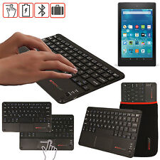 """Slim Wireless Bluetooth UK Keyboard with Touchpad for Amazon Fire 7"""" Tablet"""