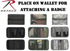 Men's Wallet Deluxe With Badge Holder Tri-Fold ID Commando Military Wallet