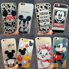Cute Cartoon Lovely Mouse Soft TPU+Hard PC Case Cover for iPhone 5S 6 6S 7 Plus