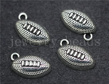 New 10/50/260pcs Tibetan Silver Beautiful Rugby Jewelry Charms Pendant 17x11mm