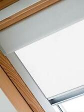 ROLLER BLINDS BLACKOUT FOR ALL VELUX ROOF WINDOWS EASY FIT-WHITE - 8 COLOURS