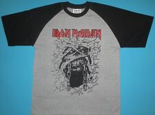 Iron Maiden - Powerslave T-shirt Gray Raglan NEW Power Slave Eddie