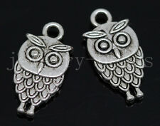 New 15/60/300pcs Antique Silver Lovely owl Alloy Jewelry Charms Pendant 18x9mm