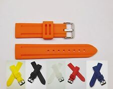 Clear Yellow Red Blue Black Orange Silicon Watch Band | Fits 22 mm Invicta