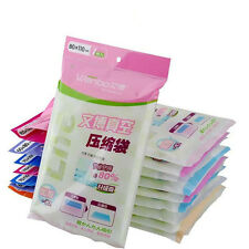 1x 2x Lot Vacuum Storage Bag Compressed Bag Space Saved Seal Compression S-XL