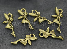 New 20/80/400pcs Antique Bronze Lovely Elves Angels Swing Charms Pendant 20x9mm