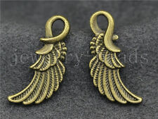 New 10/40/200pcs Antique Bronze Bird wings Jewelry Finding Charm Pendant 25x11mm