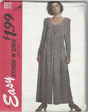 McCalls Sewing Pattern # 6912 Misses Stitch-and-Save Jumpsuit Choose Size