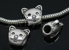 New 6/20/100pcs Antique Silver Bulk Lots big Animal Beads European Charms Beads