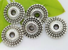 New 20/100/500pcs Antique Silver Charms Spacer Beads Jewelry Finding Beads 8x3mm