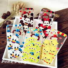 Lovely Bear Cartoon Alien Soft TPU Hard PC Case Cover for iPhone 5 6 6S Plus