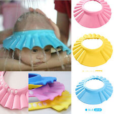 Baby Children Kids Safe Shampoo Bath Bathing Shower Cap Hat Wash Hair Shield