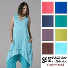 OH MY GAUZE Cotton ALAN Long Pocket VEST Tunic OS+ (L/XL/1X/2X) 2015 DISC COLORS