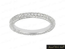 Natural 2.55Ct Round Brilliant Cut Diamond Eternity Band Ring 14K Gold G SI1
