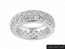 2.00Ct Round Brilliant Cut Diamond Eternity Band Wedding Ring 950 Platinum F VS1