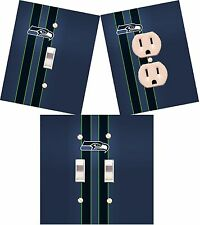 Seattle Seahawks light switch wall plate custom covers man cave room decor