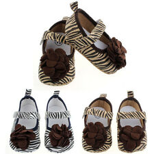 3-12 Months Kids Shoes Toddler Baby Girls Boys Zebra Style Soft Crib Shoes Gift