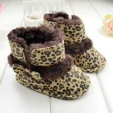 Cute Baby Shoes Snow Boots Infant Girls Crib Shoes Leopard Toddler Boots Shoes