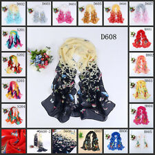 Hot sell women's Ladies chiffon soft scarves Long Wraps Shawl Butterfly Scarf
