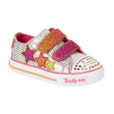 New Girl's Skechers 10249N Twinkle Toes Shufles Triple Ups Light Up Shoes 1-E14