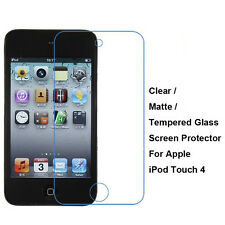 Tempered Glass/Clear/Matte Film Screen Protector For Apple iPod Touch 4 4th Gen