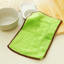 Eco-Friendly Double Thickness Anti-Greasy Bamboo Fiber Wash Towel Cleaning cloth