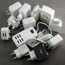 2/4-Port USB Wall Adapter AC Power Charger US/EU/UK Plug For Samsung iPhone HTC