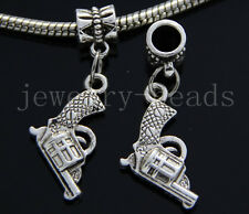 6/30/100pcs Tibetan Silver revolver Bulk Lots Dangle Charms Bracelet Craft DIY