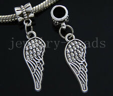 6/30/100pcs Tibetan Silver wings Bulk Lots Dangle Jewelry Craft Charms Bracelet