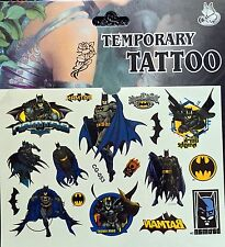 Kids Temporary Tattoos Stickers Batman Body Art Removable Waterproof Party Bag