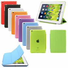 PU Leather Smart Stand Cover With Hard Back Case for Apple iPad 4 3 2 Mini Air