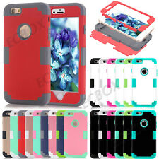 Rugged Hybrid Silicone Shockproof Glossy Matte Case Skin For iPhone 5S SE 5C 6S