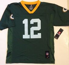 Officially Licensed AARON RODGERS 12 GREEN BAY PACKERS NFL Jersey YOUTH M, L, XL