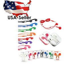 Earphone Earbud Headset Headphone with Mic for Apple iPhone 5 5S 6 6S iPod 3.5