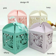 50 pcs Luxury Pearlescent Sweets Cake Candy Gift Favour Favors Boxes -12 designs