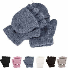 Womens Winter Warmer Gloves Ladies Hand Wrist Fingerless Gloves Fashion Mitten