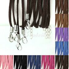10pcs Korean Suede Cord Wire Necklace Lobster Clasp Jewelry Findings 9 Colors