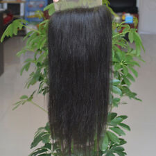 """Brazilian Remy Yaki Straight Lace Closures Virgin Human Hair Extensions 3.5x4"""""""