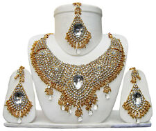 New Indian Bollywood Costume Jewelry Necklace Set Bridal Jewelry FASHION EDH