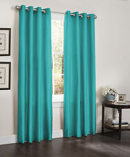 TWO BLACKOUT WINDOW CURTAINS, LINED HEAVY PANELS, 55x84, ERIN, TURQUOISE