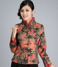 Charming Chinese Women's silk embroidery jacket /coat red Sz:8 10 12 14 16
