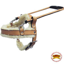 HILASON TAN PADDED GENUINE LEATHER GUIDE DOG HARNESS SIZE SML, MED, LRG & XL