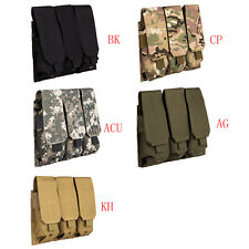 MOLLE Triple Three 5.56/.223 Assault Rifle AR M4 Magazine Mag Pouches Holster Y1