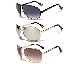 Fashion Biohazard  BZ-43 Aviator Men Sunglasses New Metal Frame Black Mirror NWT
