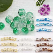 4mm Round Clear Crackle Crystal Glass High Quality Bead Jewelry Finding