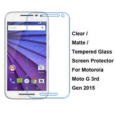 Tempered Glass/Clear/Matte Screen Protector For Motorola Moto G 3rd Gen 2015 G3