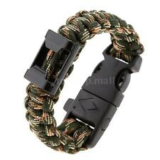 Outdoor camping Quick Release Survival Bracelet Paracord / Flint Stone 48OY