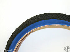 2 of BMX TYRES TIRES  BLACK BLUE WALL  20 X 2.125 LS214 COLOURED